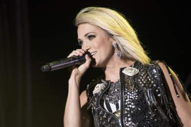 Carrie Underwood performing on the Toyota Mane Stage at the Stagecoach Festival on April 30, 2016. (Photo: Ryan Muir/Goldenvoice)