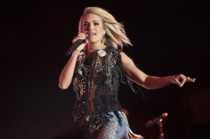 Carrie Underwood performing on the Toyota Mane Stage at the Stagecoach Festival on April 30, 2016. (Photo: Erik Voake/Goldenvoice)