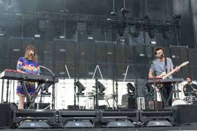 Oh Wonder performing at Sasquatch 2016 at The Gorge Amphitheatre in George, Washington on May 27, 2016. (Photo: Matthew Lamb)