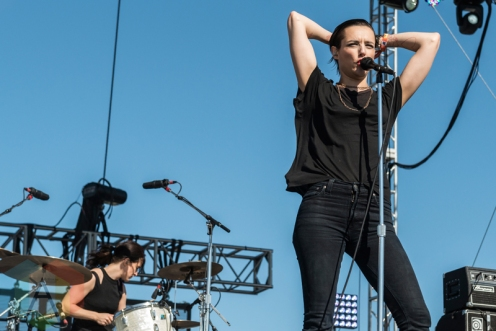 Savages performing at Sasquatch 2016 at the Gorge Amphitheatre in George, Washington on May 29, 2016. (Photo: Kevin Tosh/Aesthetic Magazine)