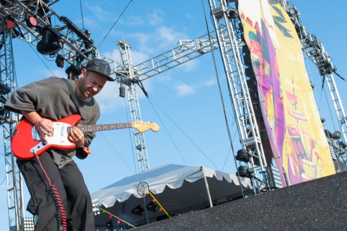 Unknown Mortal Orchestra performing at Sasquatch 2016 at The Gorge Amphitheatre in George, Washington on May 27, 2016. (Photo: Kevin Tosh/Aesthetic Magazine)