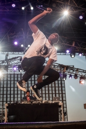 Vince Staples performing at Sasquatch 2016 at The Gorge Amphitheatre in George, Washington on May 27, 2016. (Photo: Matthew Lamb)