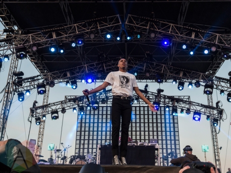 Vince Staples performing at Sasquatch 2016 at The Gorge Amphitheatre in George, Washington on May 27, 2016. (Photo: Kevin Tosh/Aesthetic Magazine)