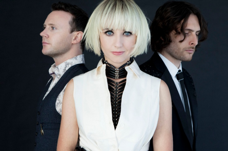 L to R: Rhydian Dafydd, Ritzy Bryan, Matthew James Thomas of The Joy Formidable. (Photo: James Minchin)