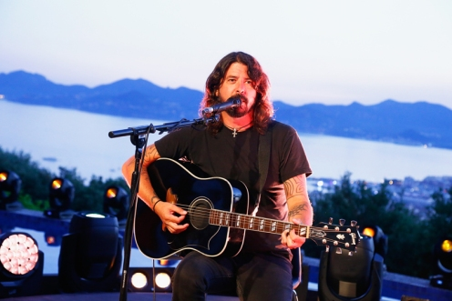 Dave Grohl of Foo Fighters performing during the Live Nation And Citi Special Evening At Cannes Lions on June 22, 2016 in Cannes, France. (Photo by Julien M. Hekimian/Getty)