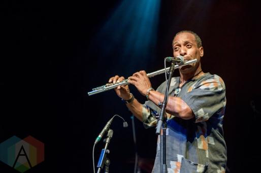 Kamari Washington performing at the Danforth Music Hall in Toronto on June 17, 2016 during NXNE 2016. (Photo: Katrina Lat/Aesthetic Magazine)