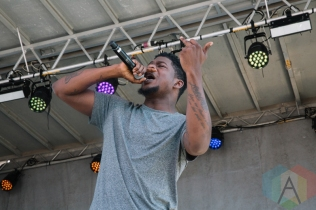 Mick Jenkins performing at the Port Lands in Toronto on June 17, 2016 during NXNE 2016. (Photo: Amy Buck/Aesthetic Magazine)