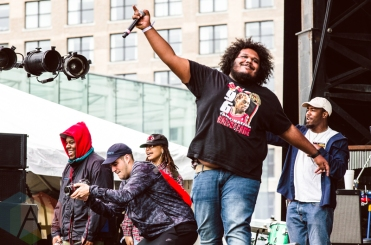 Michael Christmas performing at Boston Calling 2016 at Boston City Hall Plaza in Boston on May 29th. (Photo: Saidy Lopez/Aesthetic Magazine)