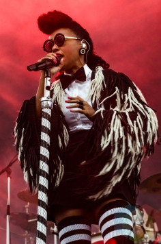 Janelle Monae performing at Boston Calling 2016 at Boston City Hall Plaza in Boston on May 29th. (Photo: Saidy Lopez/Aesthetic Magazine)