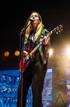 Haim performing at Boston Calling 2016 at Boston City Hall Plaza in Boston on May 29th. (Photo: Saidy Lopez/Aesthetic Magazine)