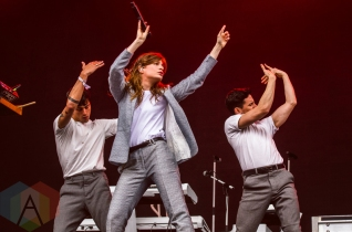 Christine And The Queens performing at Boston Calling 2016 at Boston City Hall Plaza in Boston on May 29th. (Photo: Saidy Lopez/Aesthetic Magazine)