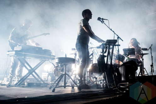 Caribou performing at Sasquatch 2016 at the Gorge Amphitheatre in George, Washington on May 30, 2016. (Photo: Kevin Tosh/Aesthetic Magazine)