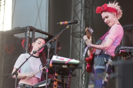 Grimes performing at Sasquatch 2016 at the Gorge Amphitheatre in George, Washington on May 30, 2016. (Photo: Matthew Lamb)