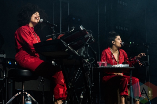 Ibeyi performing at Sasquatch 2016 at the Gorge Amphitheatre in George, Washington on May 30, 2016. (Photo: Kevin Tosh/Aesthetic Magazine)
