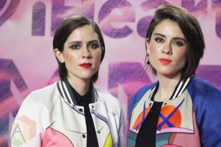 Tegan And Sara backstage at the 2016 iHeartRadio MMVAs in Toronto on June 19, 2016. (Photo: Curtis Sindrey/Aesthetic Magazine)