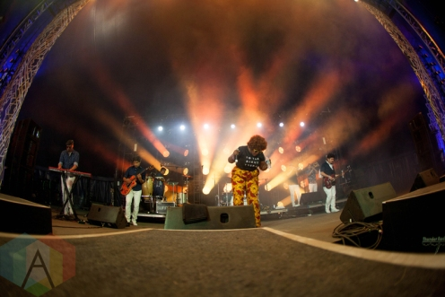 The Suffers performing at the Electric Forest Music Festival at the Double JJ Resort in Rothbury, Michigan on June 24, 2016. (Photo: Rob Harbaugh/Aesthetic Magazine)