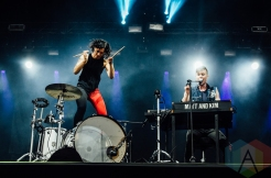 Matt And Kim performing at Governors Ball 2016 in New York City on June 3, 2016. (Photo: Saidy Lopez/Aesthetic Magazine)