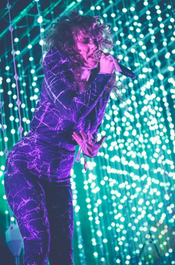 Purity Ring performing at Governors Ball 2016 in New York City on June 4, 2016. (Photo: Saidy Lopez/Aesthetic Magazine)