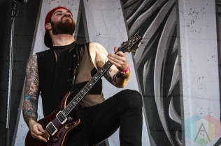 A Day To Remember performing at Amnesia Rockfest 2016 in Montebello, Quebec on June 25, 2016. (Photo: Scott Penner/Aesthetic Magazine)