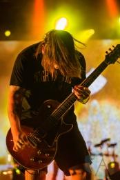 Bring Me The Horizon performing at Amnesia Rockfest 2016 in Montebello, Quebec on June 25, 2016. (Photo: Scott Penner/Aesthetic Magazine)