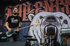 Millencolin performing at Amnesia Rockfest 2016 in Montebello, Quebec on June 25, 2016. (Photo: Scott Penner/Aesthetic Magazine)