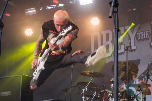 Obey The Brave performing at Amnesia Rockfest 2016 in Montebello, Quebec on June 25, 2016. (Photo: Scott Penner/Aesthetic Magazine)