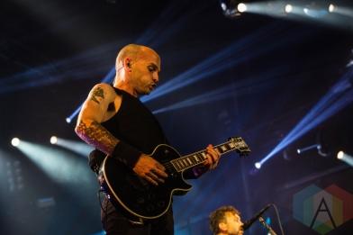 Rise Against performing at Amnesia Rockfest 2016 in Montebello, Quebec on June 25, 2016. (Photo: Scott Penner/Aesthetic Magazine)