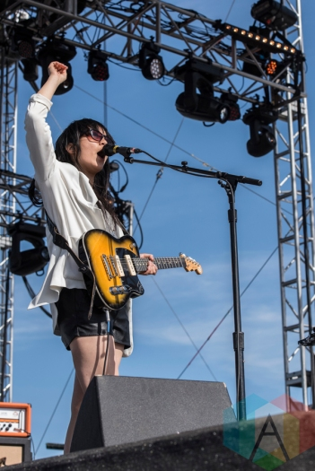Thao And The Get Down Stay Down performing at Sasquatch 2016 at the Gorge Amphitheatre in George, Washington on May 30, 2016. (Photo: Kevin Tosh/Aesthetic Magazine)