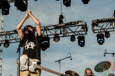 Titus Andronicus performing at Sasquatch 2016 at the Gorge Amphitheatre in George, Washington on May 30, 2016. (Photo: Kevin Tosh/Aesthetic Magazine)