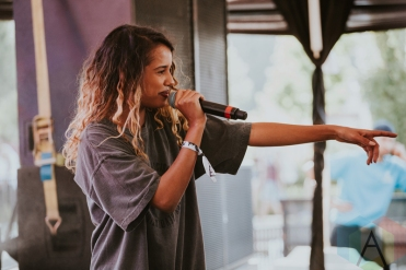 Tommy Genesis performing at FVDED in the Park at Holland Park in Surrey, BC on July 3, 2016. (Photo: Timothy Nguyen/Aesthetic Magazine)