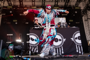 A Tribe Called Red performing at the Wayhome Music Festival on July 23, 2016. (Photo: Brandon Newfield/Aesthetic Magazine)