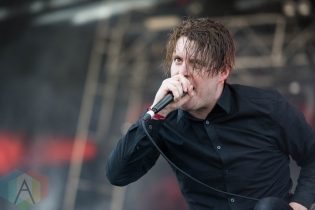 Deafheaven performing at Chicago Open Air on July 16, 2016. (Photo: Katie Kuropas/Aesthetic Magazine)