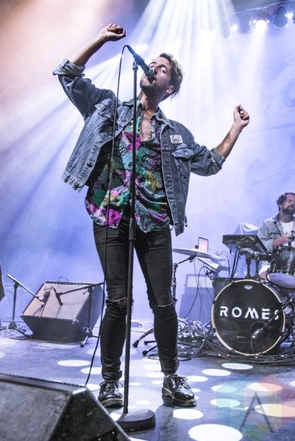 Romes performing at the Danforth Music Hall in Toronto on July 30, 2016. (Photo: Francesca Ludikar/Aesthetic Magazine)