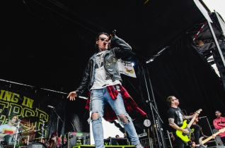 Falling In Reverse performing at Warped Tour 2016 at Jones Beach Theater in Long Island, New York on July 9, 2016. (Photo: Saidy Lopez/Aesthetic Magazine)