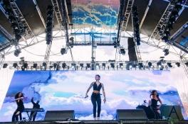 Kehlani performing at the Pemberton Music Festival on July 15, 2016. (Photo: Steven Shepherd/Aesthetic Magazine)