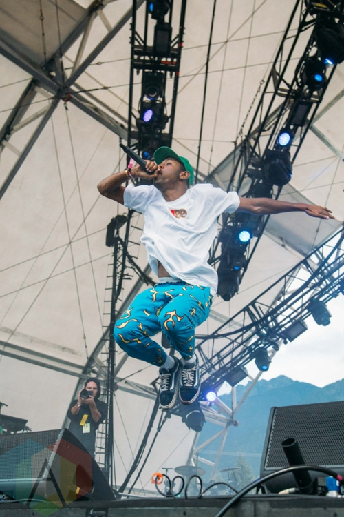 af3eb8892e35a8 Tyler The Creator performing at the Pemberton Music Festival on July ...