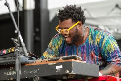 Kamasi Washington performing at the Pitchfork Music Festival in Chicago on July 17, 2016. (Photo: Kari Terzino/Aesthetic Magazine)
