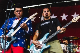 Less Than Jake performing at Warped Tour 2016 at Jones Beach Theater in Long Island, New York on July 9, 2016. (Photo: Saidy Lopez/Aesthetic Magazine)