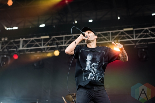 Letlive performing at Chicago Open Air on July 17, 2016. (Photo: Katie Kuropas/Aesthetic Magazine)
