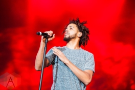 J Cole performing at the Pemberton Music Festival on July 15, 2016. (Photo: Steven Shepherd/Aesthetic Magazine)