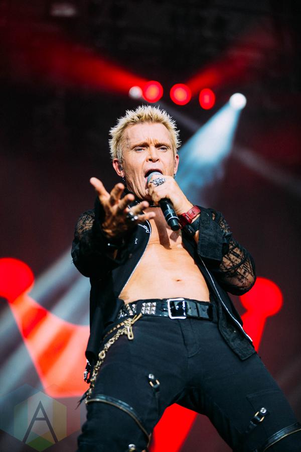 Billy Idol performing at the Pemberton Music Festival on July 16, 2016. (Photo: Steven Shepherd/Aesthetic Magazine)