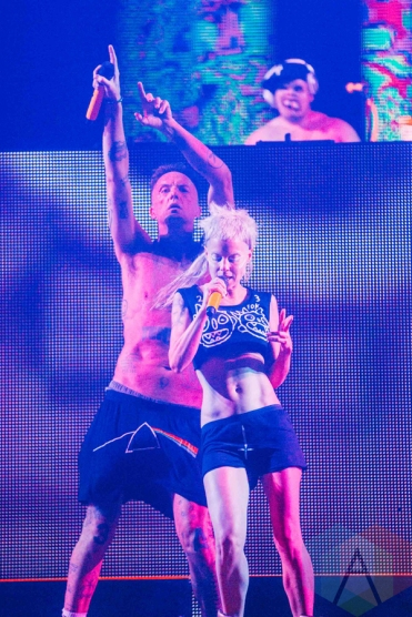 Die Antwoord performing at the Pemberton Music Festival on July 16, 2016. (Photo: Steven Shepherd/Aesthetic Magazine)