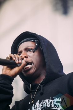 Joey Badass performing at the Pemberton Music Festival on July 15, 2016. (Photo: Steven Shepherd/Aesthetic Magazine)
