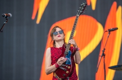 Ex-Hex performing at the Panorama Music Festival on Randall's Island in New York City on July 23, 2016. (Photo: Courtesy of Panorama Music Festival)