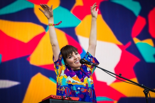 Oh Wonder performing at the Panorama Music Festival on Randall's Island in New York City on July 23, 2016. (Photo: Courtesy of Panorama Music Festival)