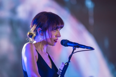 Daughter performing at the Panorama Music Festival on Randall's Island in New York City on July 23, 2016. (Photo: Courtesy of Panorama Music Festival)