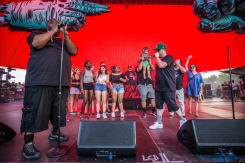 Run The Jewels performing at the Panorama Music Festival on Randall's Island in New York City on July 24, 2016. (Photo: Courtesy of Panorama Music Festival)