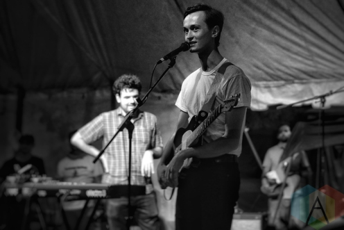 Ought performing at Hillside Festival on July 22, 2016. (Photo: Dan Fischer/Aesthetic Magazine)