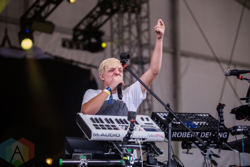 Robert Delong performing at the Wayhome Music Festival on July 24, 2016. (Photo: Brandon Newfield/Aesthetic Magazine)