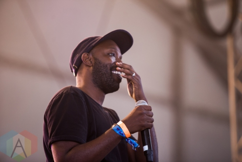 Shad performing at the Wayhome Music Festival on July 22, 2016. (Photo: Brandon Newfield/Aesthetic Magazine)